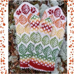 Ravelry: Vanten Höst (Autumn mittens) pattern by JennyPenny Mittens Pattern, Norwegian Knitting, Fair Isle Pattern, Knitting Accessories, Hand Warmers, Pulls, Ravelry, Knitting Patterns, Socks