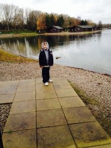 Blogger Kim Nash and her cutie son on holiday at Diamond Resort's Pine Lake