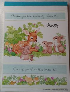 Vintage montag writing tablet woodsie friendships squirrels vintage montag writing tablet woodsie friendships deer and bunnies gibson greeting cards inc m4hsunfo