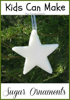 Sugar Ornaments. Kids can help make them and they are so very pretty!