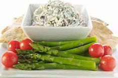 what you need  1pkg. (10 oz.) frozen chopped spinach, thawed, drained  1pkg. (4 oz.) ATHENOS Traditional Crumbled Feta Cheese  1cup BREAKSTONE'S or KNUDSEN Sour Cream  1/2cup KRAFT Real Mayo Mayonnaise  1/4cup sliced kalamata olives or sliced pitted ripe olives  1/4cup chopped drained roasted red peppers