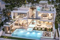 Style At Home, Luxury Homes Dream Houses, Luxury Modern House, Modern Mansion Interior, Luxury House Plans, Luxury Living, Modern Villa Design, Urban Design, Dream Mansion