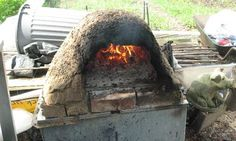 An allotment pizza oven
