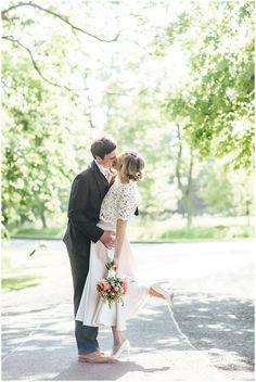Summer Edinburgh wedding, Prestonfield House, Bride & Groom kiss. Totty Rocks dress Buick, Edinburgh, Bride Groom, Rocks, Kiss, Wedding Dresses, Summer, Photography, House