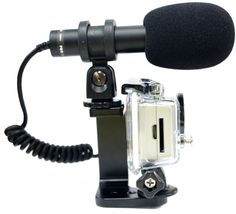 Wrap Around Mount for the GoPro HD HERO2 - Allows you to mount a shotgun microphone to your GoPro HD HER02