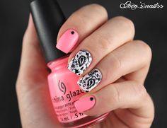 paisley nail art #cocosnailss
