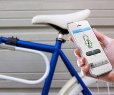 candado de bicicleta sin llave que se controla por Smartphone. Es de máxima seguridad, permite que tus amigos también puedan abrir el candado, realizar seguimiento y  su batería dura 5 años, te asegura más de 10000 usos sin problemas. #Tecnología