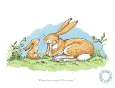 Anita Jeram - Guess How Much I Love You - Yard Gallery #bunny, #illustration