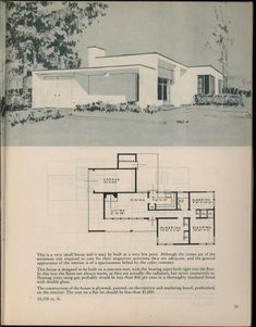 Houses for homemakers Vintage House Plans, Modern House Plans, Small House Plans, House Floor Plans, Mcm House, Mid Century House, Architecture Plan, Building Plans, Historic Homes