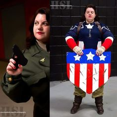 """Professional cosplayer Margaret """"Peggy"""" Carter, Cheryl Tunt from Archer and Jyn Erso from Rogue One. Upcoming events: OC Con, Jersey Shore Comic Book Show,. Peggy Carter, Agent Carter, Cheryl Tunt, Book Show, Upcoming Events, Punk Rock, Captain America, Shots, Marvel"""