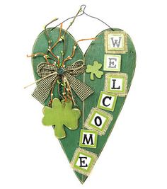 Welcome Heart With Grapevine Wall Hanging