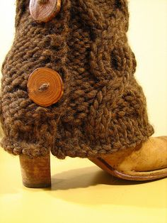 Wanting to make these for a while now- knitted boot covers