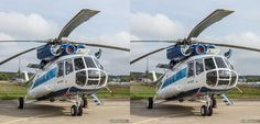 Helicopters at MAKS-2013 (International Aviation and Space Salon), Russia, 3D CrossView