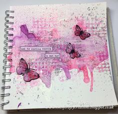 By Jane Royston Art journal page using Bee Crafty stamps and stencils in Pink Pig Sketch book Art Journal Pages, Art Journals, Journal Ideas, Pig Sketch, Mixed Media Art, Mix Media, Pig Art, Art Journal Techniques, Gcse Art