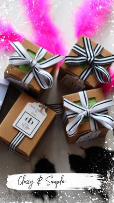 Creative Inspiration, Serenity, Gift Wrapping, Classy, Simple, Gifts, Gift Wrapping Paper, Presents, Chic