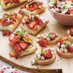 Strawberry Bruschetta | MyRecipes.com