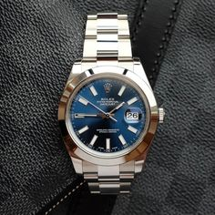 """232 Likes, 14 Comments - Aleksey, Moscow  (@waatches) on Instagram: """"My lovely blue dial  мой любимый синий цифер #rolex #datejust41 #ролекс #lv"""""""