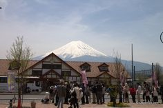 Kawaguchiko Station with Mt Fuji