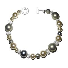 Furla Crystal Bead Multi Color Pearl Necklace from Bijoux Closet