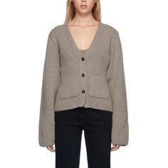Khaite Scarlet Cashmere-Blend Cardigan High Rise Pants, Winter Looks, Winter Wardrobe, Wide Leg Pants, Scarlet, Rib Knit, Knitwear, Cashmere, Mini Skirts