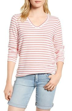 31554a4820b0 Free shipping and returns on Gibson x Living in Yellow Steph Cozy Fleece  Stripe Top (