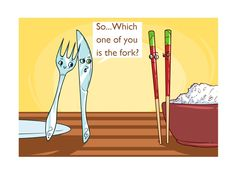 Which is the fork?