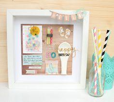 Scrap Sweet Scrap: Geburtstagskarte in einem Rahmen - Beitrag für In ...