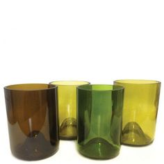 wine glass recycling art ideas | Wine Rocks Glasses Set of 4 Made from Recycled by BottleRehab, $38.00