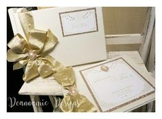 Gold guest book. Deannamic Designs Gold Invitations, Book, Gold Save The Dates, Book Illustrations, Books
