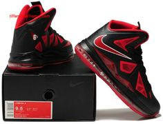 Nike Lebron 10 Shoes Red Black White Hot | Basketball | Pinterest | Nike  lebron, Red black and Black