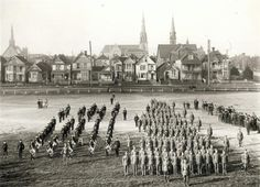 A parade ground at 600 Cambie in Vancouver Public Library VPL 194 Old Photos, Vintage Photos, Paris Skyline, New York Skyline, North Vancouver, History Facts, Back In The Day, Vintage Photography, British Columbia