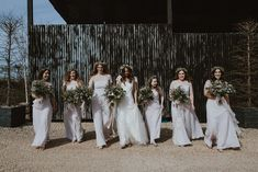 Greenery Wedding at Cripps Barn in the Cotswolds with Halfpenny London Wedding Dress and ASOS Bridesmaids Dresses, shot by Sara Lincoln Photography Wedding Centerpieces, Wedding Bouquets, Wedding Dresses, Flowers In Hair, Wild Flowers, Asos Bridesmaid Dress, Greenery Bouquets, London Wedding, Wax Seals