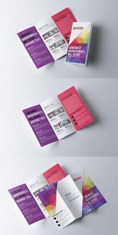Business Trifold Brochure Template Bi Fold Brochure, Brochure Layout, Business Brochure, Brochure Template, Card Templates, Pamphlet Design, Leaflet Design, Broucher Design, Flyer Design