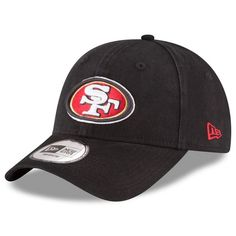 San Francisco 49ers New Era Relaxed 49FORTY Fitted Hat - Black