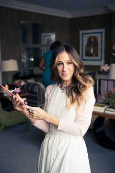 Just a casual afternoon with SJP. www.thecoveteur.com/sarah-jessica-parker-gayle-king-adam-glassman