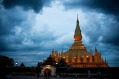 Wat Pha That Luang | Vientiane, Laos    Pha That Luang (Lao: ພຣະທາດຫຼວງ, IPA: pʰā tʰâːt lŭaːŋ, 'Great Stupa') is a gold-covered large Buddhist stupa on the eastern outskirts of Vientiane, Laos.Since its initial establishment suggested to be in the 3rd  http://mozaikvoyages.com  http://mozaikvoyages.com/voyages-laos