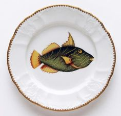 Antique Fish  7.5 In Salad Plate No. 1 | Gracious Style