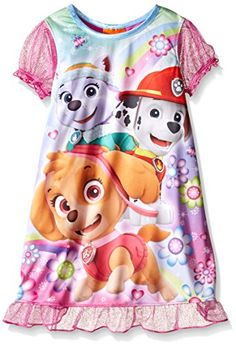 Amazon.com  Nickelodeon Paw Patrol Big Girls Skye and Friends  Rescue  Wonderland Nightgown Pink 8  Clothing 4ba0ff6d9622