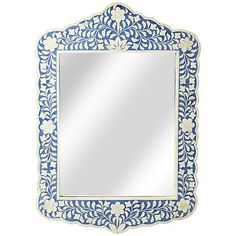 Constantino Blue Bone Inlay Wall Mirror Look for Less