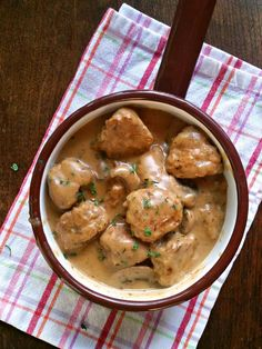 Turkey Meatballs with Dill Mushroom Gravy