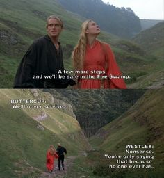 OK, I'm gonna give in and make a board for my princess bride quotes. I love this movie so much!!