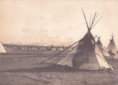 Piegan encampment - Scènes de la vie indienne en Amérique du Nord - Edward S. Curtis
