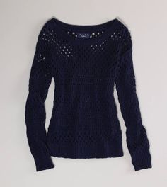 Open Knit Shimmer Sweater