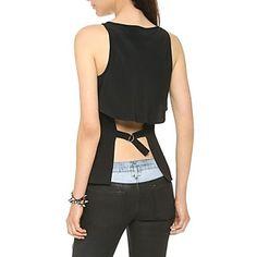 Mantón de la manera de la capa de las mujeres del diseño de la gasa sin mangas de la camisa - USD $ 19.99