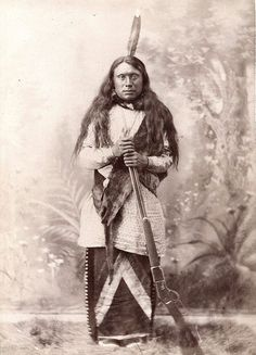 Spread Face. Arikara? ca. 1880. Photo by Z. Gilbert. Source - Yale Collection of…