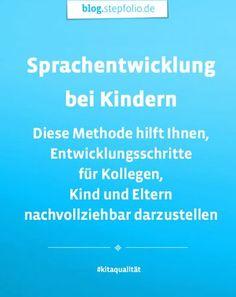 Sprachentwicklung bei Kindern ist ein wichtiges Thema in der Kita. Um eigene Einschätzungen mit den Kollegen, den Eltern und sogar dem Kind können durch diese Methode geteilt werden. Zum kompletten Beitrag: https://blog.stepfolio.de/themen-rund-um-kita-qualitaet/wozu-brauche-ich-entwicklungsbeobachtung-und-dokumentation-in-der-kita  #entwicklung #kind #kita #kindergarten #stepfolioblog
