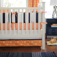 Out & About: Orange Crib Bedding and Arrow Crib Bedding Combination