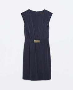 ZARA - SALE - FLOWY DRESS WITH BUCKLED BELT