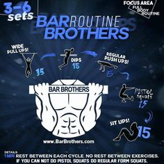 Bar Brothers workout routine is the best for calisthenics and strength training barbrothersteam. Bodyweight Training Program, Calisthenics Workout Routine, Full Body Workout Routine, Calisthenics Training, Park Workout, Street Workout, Bar Brothers Workout, Body Weight Training, Easy Workouts