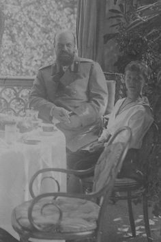 Tsar Alexander III with his youngest son Grand Duke Michael Alexandrovich (When I first saw this I thought Michael was Alexei)